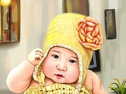 手绘写实人物  《西西妹妹》