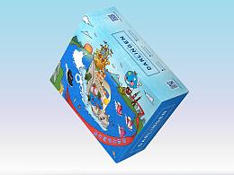 《少年明媚,时光如梦》包装设计商业手绘CG插画,盒子in站酷zcool