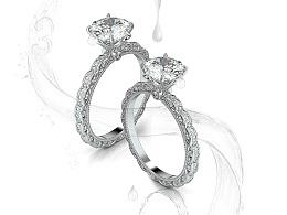 【梵尼洛芙珠宝洛可可女王系列】新品DEW 设计灵感:清晨露珠 - 求婚钻戒 婚戒设计