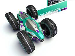 [玩具设计]双面翻滚遥控车造型设计