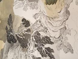 集古斋-回忆 水彩过程