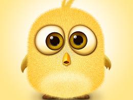 毛茸茸的小黄鸟