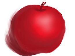 圣诞节练习 手绘苹果 上色练习 红苹果