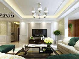 济宁绿地国际120平现代简约欧式装修设计,感受宁静和安逸