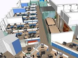 商业连锁公司办公室规划设计