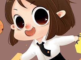 曲奇饼包装角色设计及插画(部分稿)