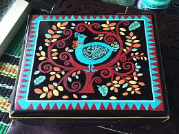 彩绘首饰木盒