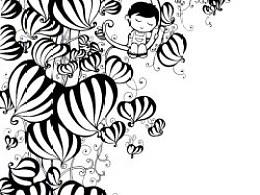 童梦---原创手绘黑白插画