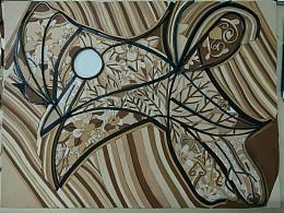 皮革抽象装饰画