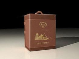 红酒皮盒包装