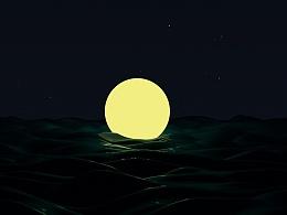 C4D练习-海底捞月