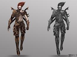 2011年的游戏原画人物设定(原创)