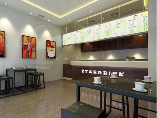 奶茶店装修设计商场的底层系统新风太吵了图片
