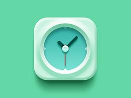 打造轻质感时钟icon
