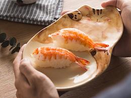 日系猫咪盘子