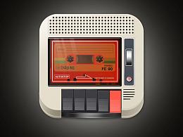 拟物化塑料质感图标收音机