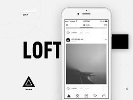 极简非黑即白 | LOFT 社交类应用