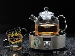 玻璃茶杯拍摄 家电用品摄影 静物产品拍照