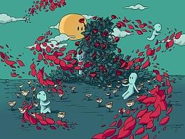 鲜红的蔷薇