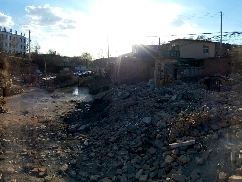 拆迁后的村庄