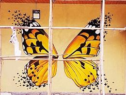 广宁宝锭山景区墙绘 壁画 涂鸦