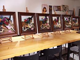 欢乐的时光/指见生活24期粘土浮雕画培训