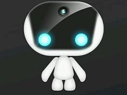 一个吉祥物机器人