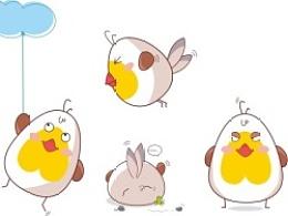 萌小鸟箱包卡通形象设计