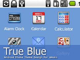 "android手机主题设计""TrueBlue"""