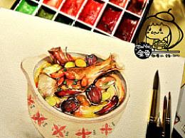 金鱼手绘美食