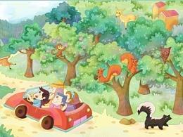 幼儿读物APP《一起去旅行吧!》