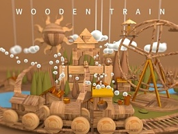 Wooden train creative