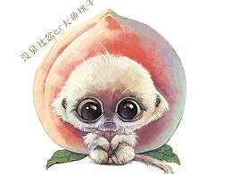 【萌宠 by 雪娃娃】然而,它只是花果山一只平常的小猴猴儿~~