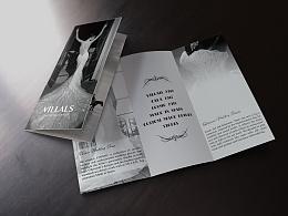 Villais高级定制婚纱--折页设计