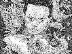 孩子和朋友(公益类点绘插画)