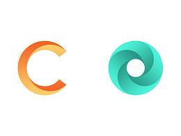 圆logo和c形logo