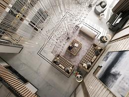 新作品别墅客餐厅空间表现