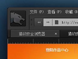 猎豹浏览器UI-[专业黑]