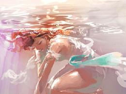 吞噬(第二次临摹女性插画)