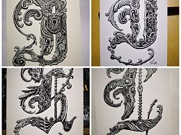 哥特字体,I、J、K、L