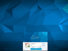 QQ登录背景不规则几何图形素材