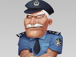 Q版游戏角色设计2—警察大伯