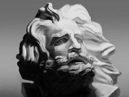 Ps手绘练习——马赛石膏像