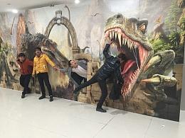 天津儿童乐园原创作品恐龙主题系列大型3D立体画展