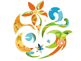 飞机稿——幸福丰台·花好月圆logo设计