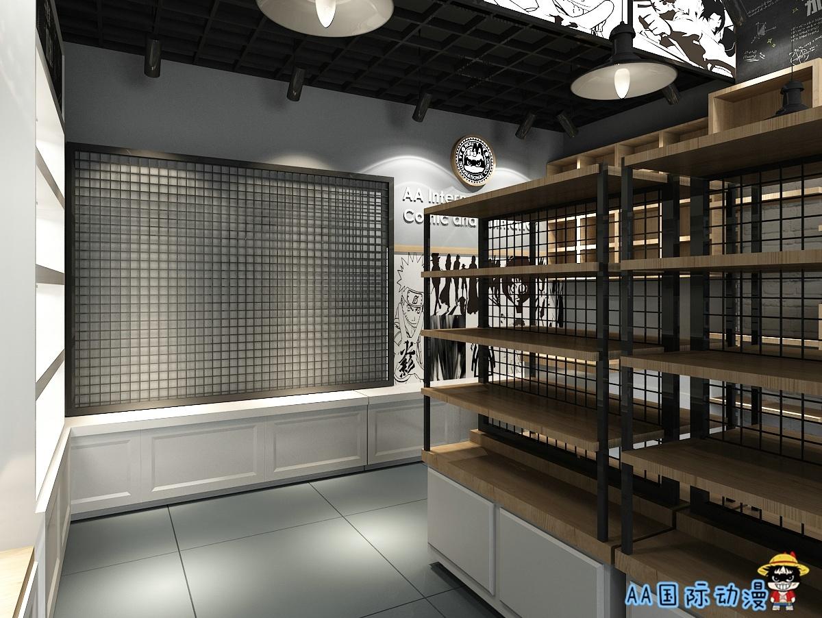 奶茶店,动漫奶茶店,风尚动漫奶茶店店面装修设计图喀什倡导新主题图片
