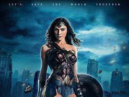 神奇女侠合成、合成海报、电影合成海报、合成素材banner、合成动态制作