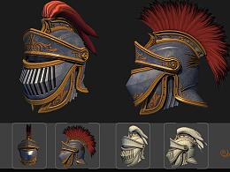 中世纪游戏头盔设计