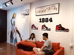 广州番禺大象洗鞋店墙体手绘涂鸦 店铺涂鸦墙 墙上涂鸦