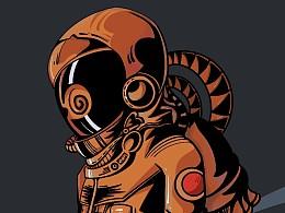【宇航员系列】最近画了三个小图